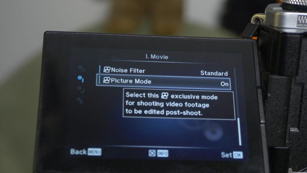 Flacher Bildstil für Video an der E-M5 II
