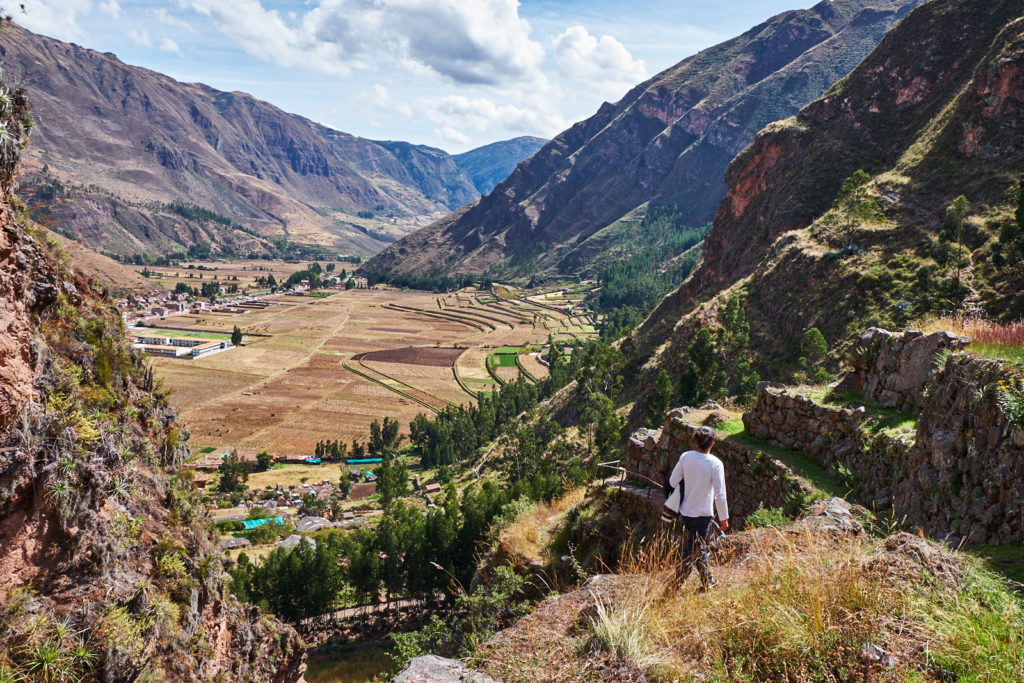 Blick ins Sacred Valley in Peru