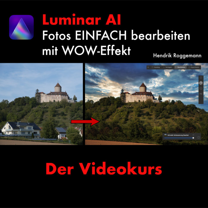 Cover Luminar AI lernen - Der komplett Videokurs